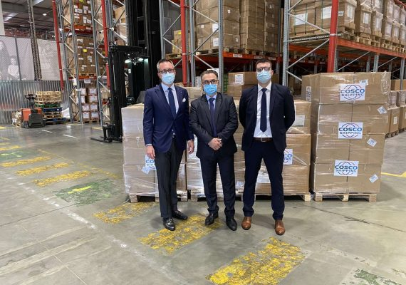 "Dragon Maritime Group, as an agent of ""COSCO Shipping Lines Co."" donated protective medical equipment to the Government of the Republic of Serbia in the fight against #COVID19."