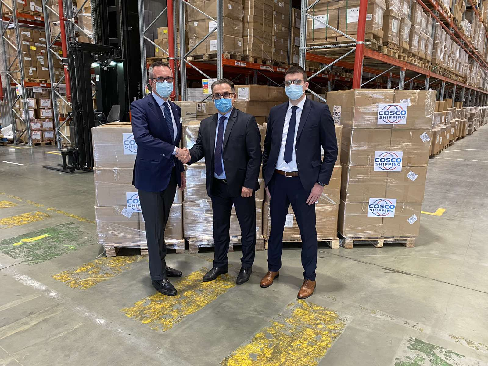 dragon maritime - cosco shipping donation serbia